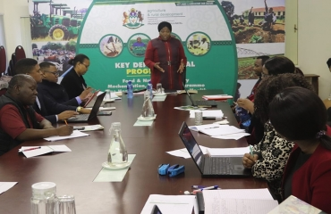 KZNDARD MEC Bongiwe Sithole-Moloi visits the King Cetshwayo District offices to assess the staff readiness to implement the programmes of the department following the tabling of the 2019/20 Budget Vote