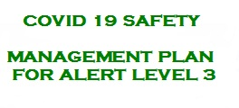 Covid 19 Safety Management Plan for Alert Level 3 thumbnail